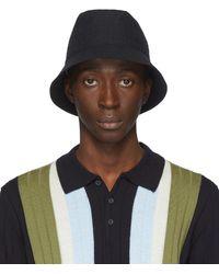 Barena Navy Ostro Bucket Hat - Blue