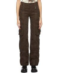 Reese Cooper Pantalon cargo en toile brun - Marron