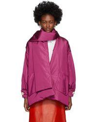 Gucci ピンク シルク ボンバー ジャケット
