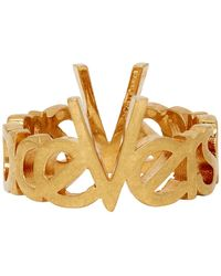 Versace Gold Vintage Logo Ring - Metallic