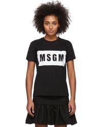 MSGM Box Logo T-shirt - Black