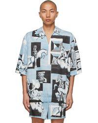 Dolce & Gabbana - ブルー And ホワイト ショート スリーブ シャツ - Lyst