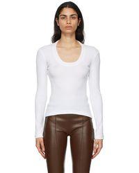Rosetta Getty U-neck Long Sleeve T-shirt - White