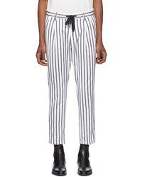 Dolce & Gabbana - ホワイト & ブラック ストライプ トラウザーズ - Lyst