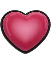 Balenciaga ピンク & ブラック Sticker Heart リング