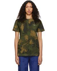 Off-White c/o Virgil Abloh Green Paintbrush Camouflage T-shirt