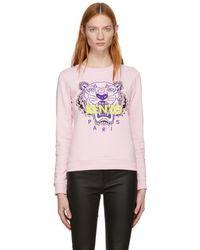 KENZO - Pink Classic Tiger Sweatshirt - Lyst