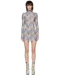 Vetements - Beige Flowers Body Dress - Lyst