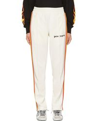 Palm Angels White Rainbow Track Trousers