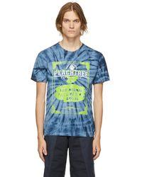 Liam Hodges Blue Tie-dye 'subnormal Futures' T-shirt