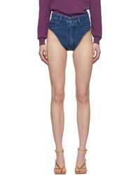 Y. Project Short en denim bleu Janties