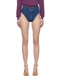 Y. Project Blue Denim Janties Shorts