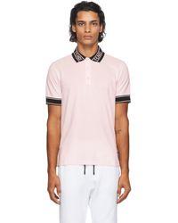 Fendi ピンク ロゴ カラー ポロシャツ