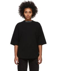 Palm Angels T-shirt noir Classic Logo Over
