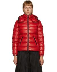 Moncler Bady Slim Short Down Jacket - Red