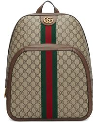 Gucci Men's GG Supreme Medium Canvas Backpack - Natural