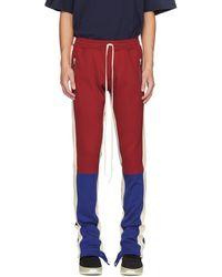 Fear Of God - Pantalon de survetement rouge et bleu Motorcross - Lyst