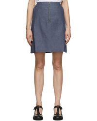 Maison Kitsuné ブルー A-line スカート