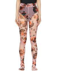 Henrik Vibskov Pink Pollen Tights - Multicolor