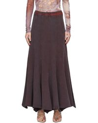 Y. Project Purple Flare Panel Maxi Skirt