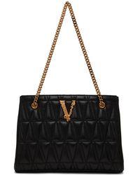 Versace ブラック Virtus ショルダー バッグ
