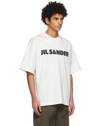 Jil Sander - オフホワイト ロゴ T シャツ - Lyst