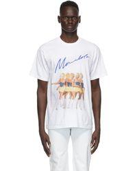Mowalola ホワイト ロゴ グラフィック T シャツ
