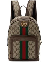 Gucci - Brown Small GG Ophidia Backpack - Lyst