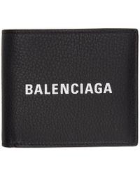 Balenciaga - Logo Bi-fold Leather Wallet - Lyst