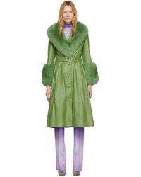 Saks Potts Green Foxy Coat