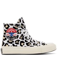 Converse Black And Off-white Logo Play Chuck 70 High Sneakers