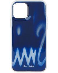 Paul Smith ネイビー Spray Iphone 11 Pro ケース - ブルー