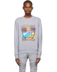 Balmain - グレー & マルチカラー ロゴ スウェットシャツ - Lyst