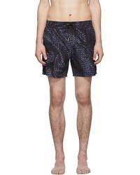 Bottega Veneta - Intrecciato Print Swim Shorts - Lyst