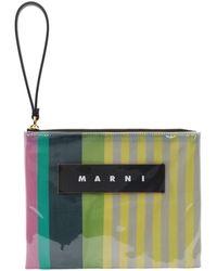 Marni マルチカラー グロッシー グリップ ポーチ - ピンク