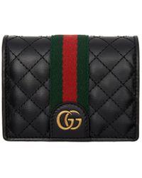 Gucci - ブラック GG ウェブ ウォレット - Lyst