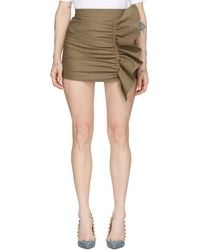 RED Valentino Jupe-short beige Gathering Front - Neutre