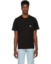 Carhartt WIP - Black Pocket T-shirt - Lyst