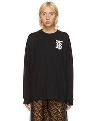 Burberry Tb モノグラム Atherton スウェットシャツ - ブラック