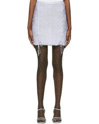 GAUNTLETT CHENG Ssense Exclusive Purple V Miniskirt