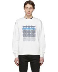 COACH ホワイト エンブロイダリー ロゴ スウェットシャツ