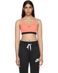 Nike - Pink Classic Strappy Sports Bra - Lyst