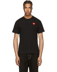 Play Comme des Garçons - Black Heart Patch T-shirt - Lyst