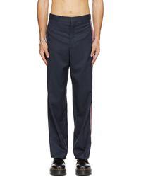 Charles Jeffrey LOVERBOY Wool Stripe Trousers - Blue