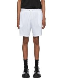 Givenchy White Jacquard Sporty Shorts