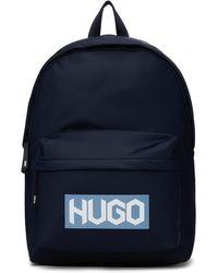 HUGO ネイビー Record Jl バックパック - ブルー