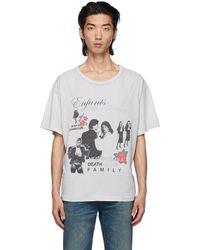 Enfants Riches Deprimes T-shirt 'mort et resurrection' gris - Blanc