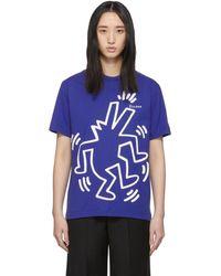 Etudes Studio Keith Haring Edition ブルー Wonder T シャツ
