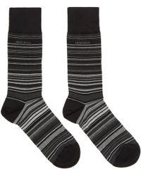 BOSS - Black Rs Multistripe Mc Socks - Lyst