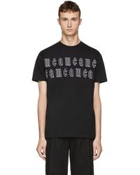 McQ - Black Gothic Repeat Logo T-shirt - Lyst